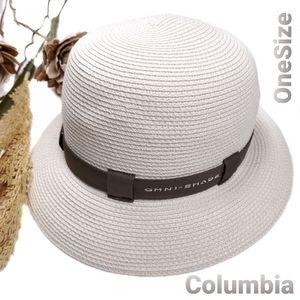 COLUMBIA Omni Shade Cloche Stye White Brown Hat OS